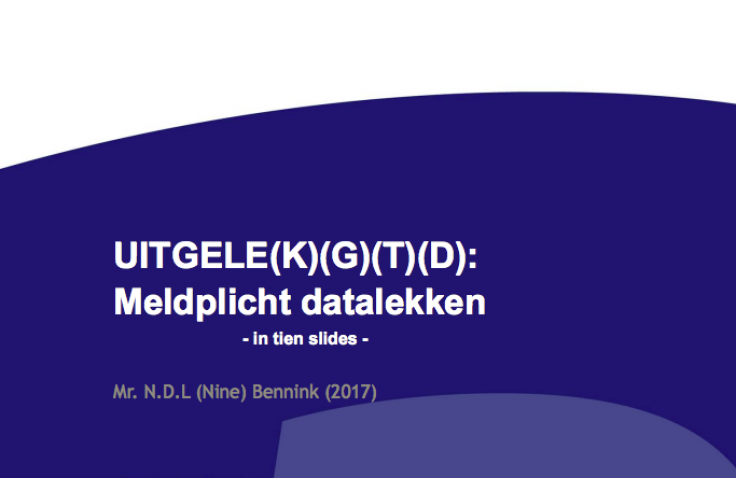 meldplicht datalekken in 10 slides presentatie